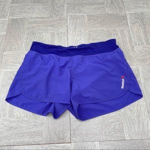 Reebok shorts purple medium athletic running